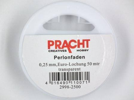 Perlonfaden 0,4mm transparent 50m