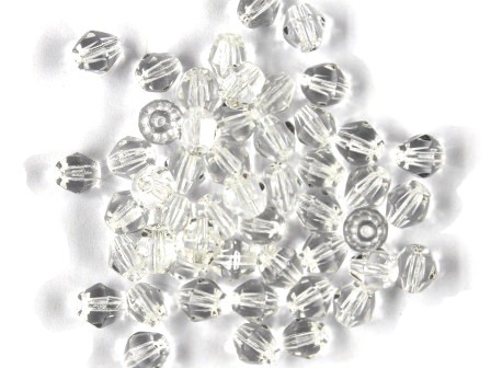 Bicone 5mm Kristall-klar