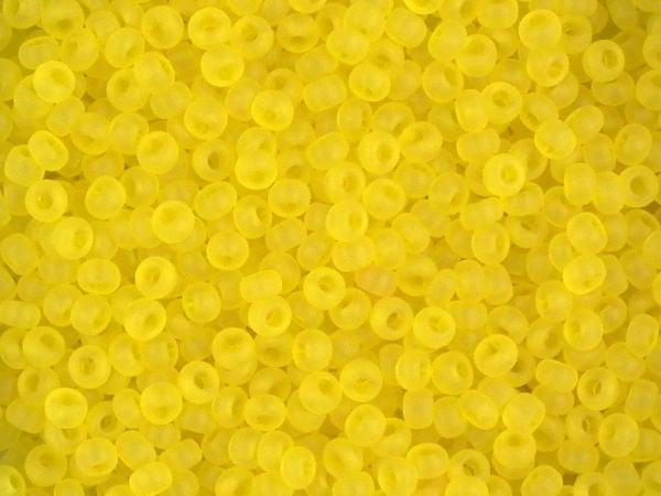 Rocailles 2,6mm 9/0 transparent matt gelb