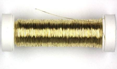 Kupferdraht lackiert 0,4mm 40m goldfarben