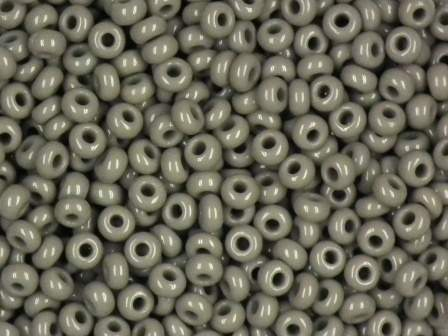 Rocailles 2,6mm 9/0 satt grau