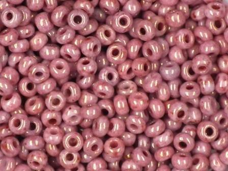 Rocailles 2,6mm marmor rot 10g