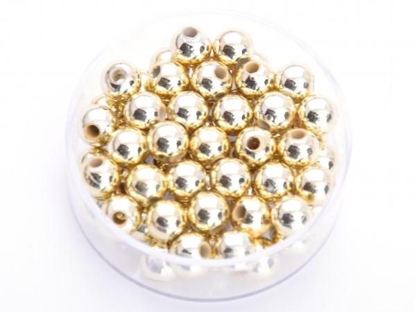 Wachsperlen Gold 6mm 60 Stück