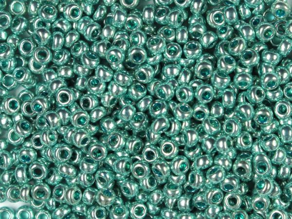 Rocailles 2,6mm 9/0 metallic blau-grün