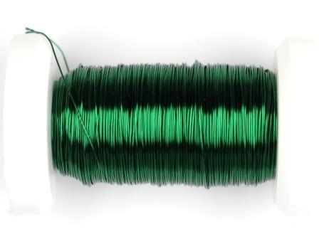 Kupferdraht lackiert 0,25mm, 50m metallic grün