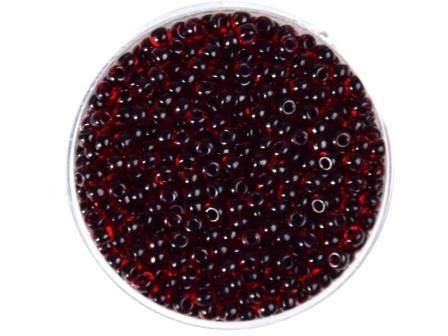 Rocailles 2,6mm Rot Farbeinzug schwarz