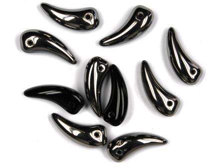 10 Klaue Perlen 16mm Chrom-schwarz