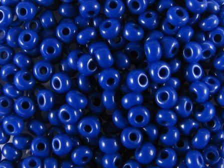Rocailles 2,6mm 9/0 satt königsblau