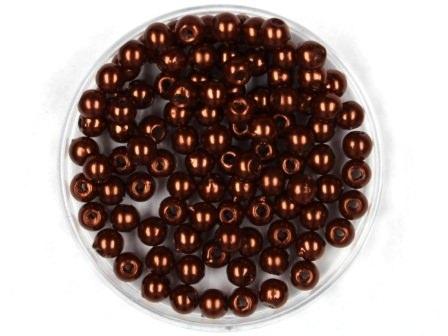 Wachsperlen Braun 4mm 100 Stück