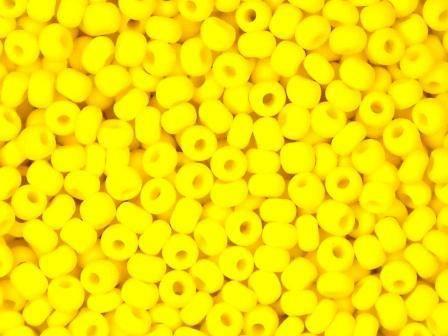 Rocailles 2,6mm 9/0 satt matt gelb