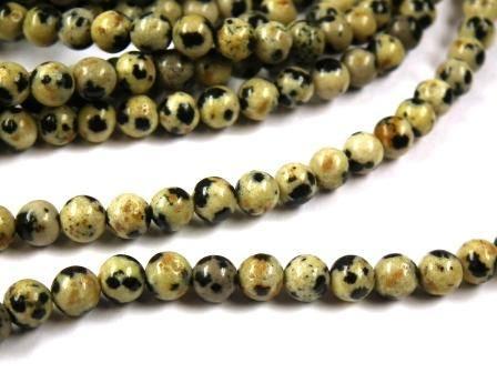 Edelstein-Perlen-Dalmatiner-Jaspis-rund-4mm