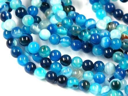 Edelstein-Perlen-blauer-Achat-rund-4mm