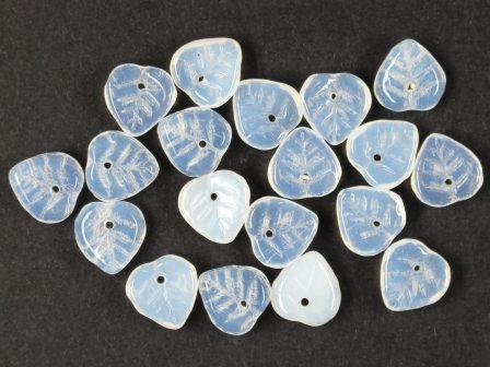 Glas-Blätter-Perlen alabaster kristall 9mm