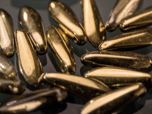 mini Dagger Beads 3x11mm Kristall Amber