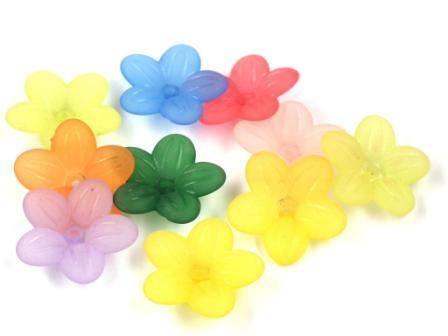 Blütenperlen Geranien 20mm