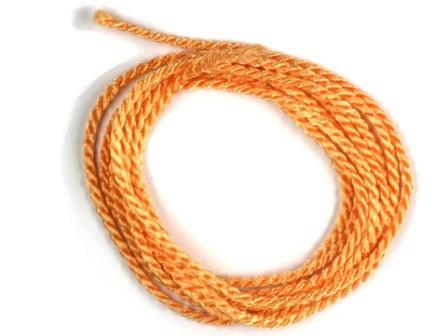 Viskosekordel-2mm-apricot