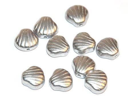 Muschelperlen 9mm Silber