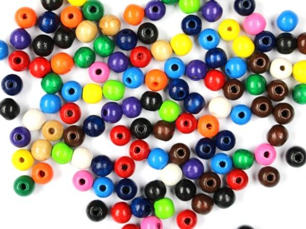 Holzperlen Farbenmix 6mm