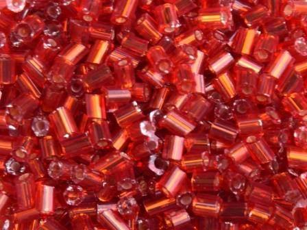 Glasstifte 11/0 2,2mm Silbereinzug Rot