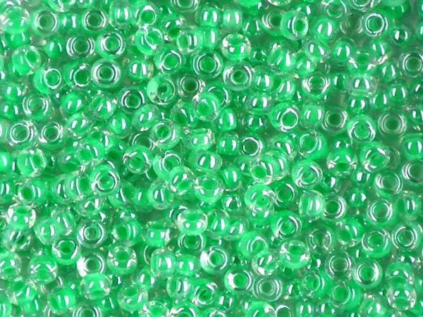 Rocailles 2,6mm 9/0 Farbeinzug grün