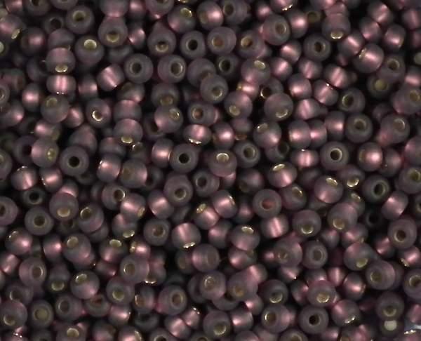 Rocailles 2,6mm 9/0 silbereinzug matt amethyst