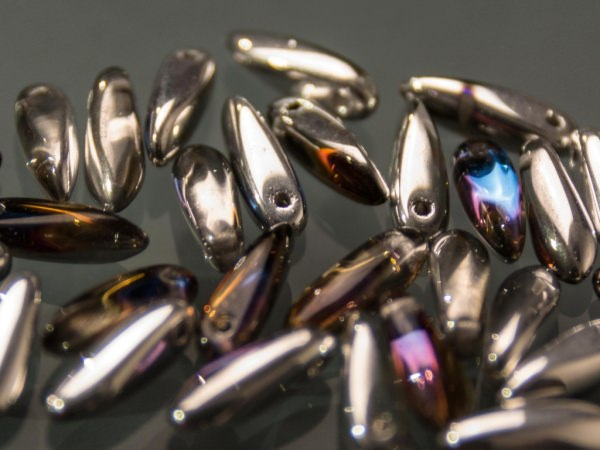 mini Dagger Beads 3x11mm Kristall Bermuda-Blue