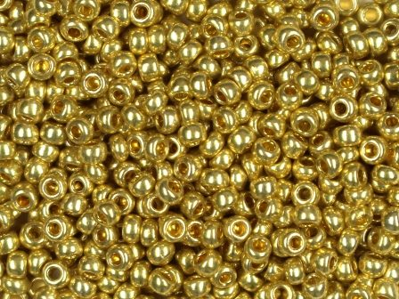 Rocailles 2,6mm 9/0 metallic hell Gold