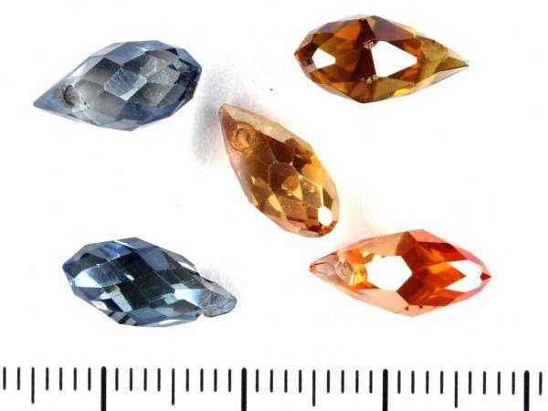 Glasschliff Tropfen 12x6mm Farben Mix AB