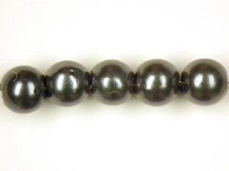 Wachsperlen grau 4mm 100 Stück