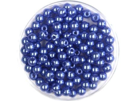 Wachsperlen Lila-Blau 4mm 100 Stück
