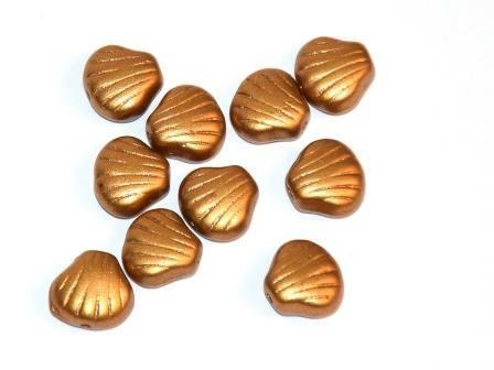 Muschelperlen 9mm Gold