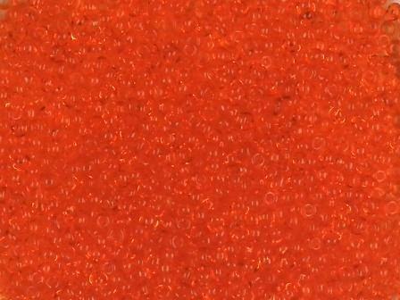 Rocailles 1mm transparent orange
