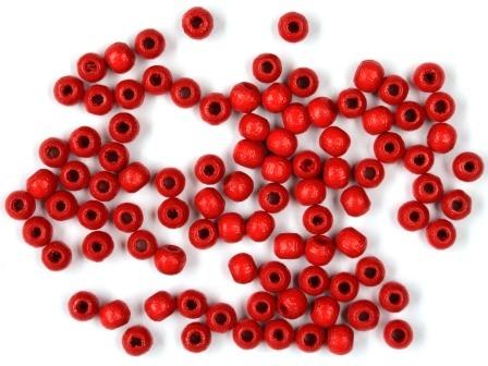 Holzperlen rot 4mm