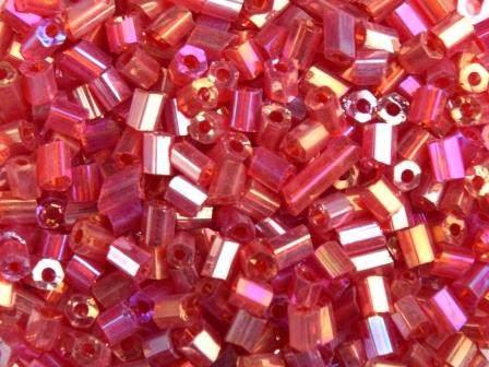Glasstifte 11/0 2,2mm Rainbow Rot