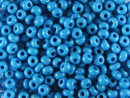 Rocailles 2,6mm 9/0 satt blau