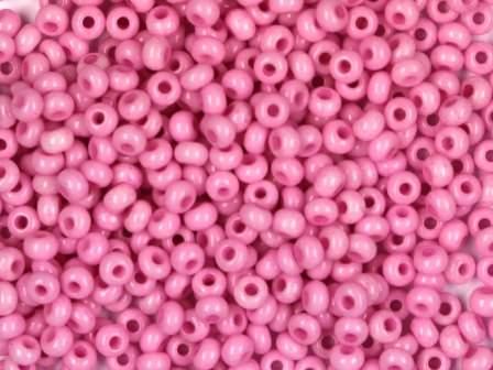 Rocailles 2,6mm 9/0 satt rosa