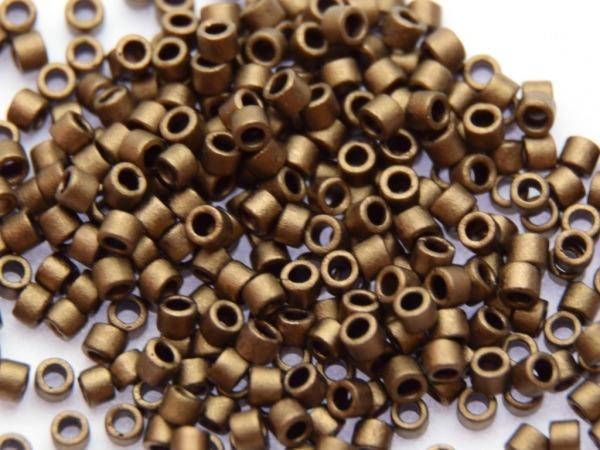 Miyuki Delica 11/0 1,6mm metallic matt Bronze 100g