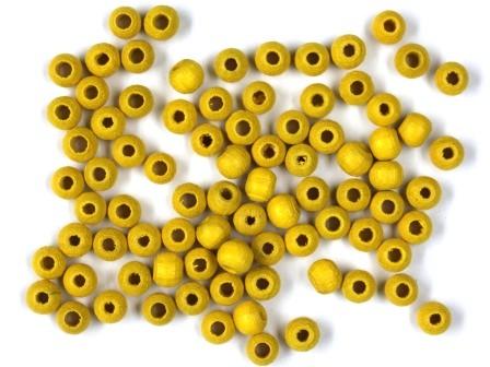 Holzperlen gelb 4mm