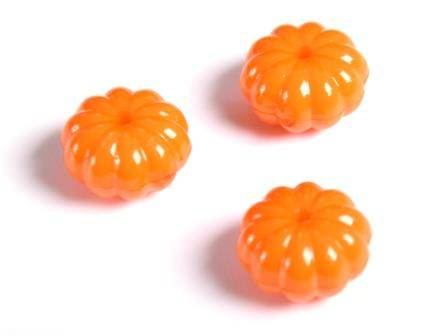 Kürbisperle Orange 15x9mm Bohrung 1mm