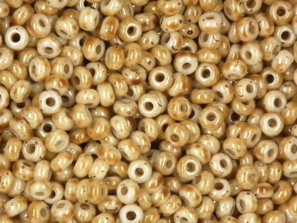 marmorierte Rocailles 9/0 2,6mm sand