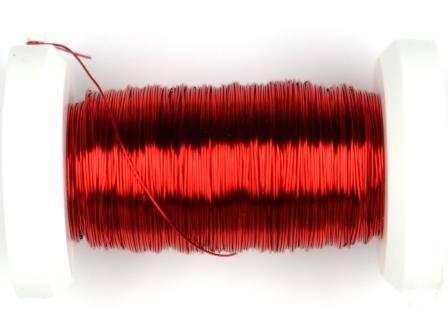 Kupferdraht lackiert 0,3mm, 50m metallic rot