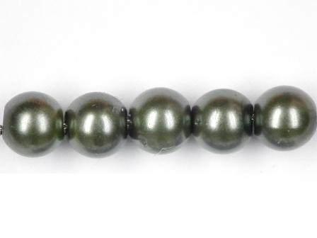 Wachsperlen grün 6mm 60 Stück
