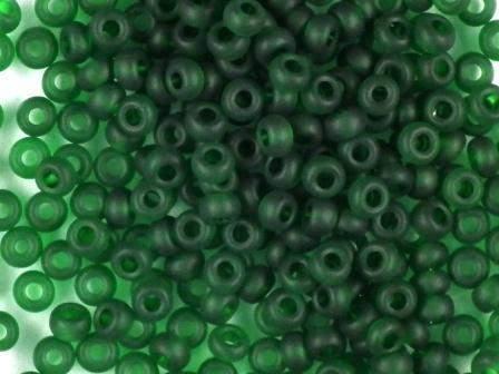 Rocailles 2,6mm transparent matt grün 17g