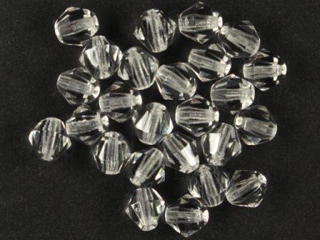 Bicone 6mm Kristall-klar