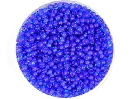 Rocailles 2,6mm Hellblau Farbeinzug lila