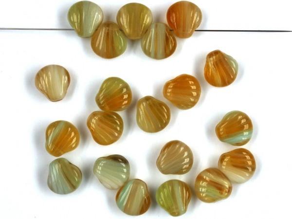 marmorierte Muschelperlen 9mm topas