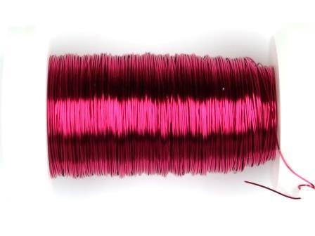 Kupferdraht lackiert 0,25mm 50m pink