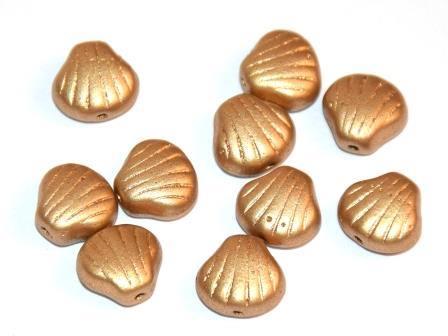 Muschelperlen 9mm hell Gold