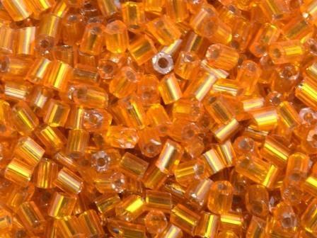 Glasstifte 11/0 2,2mm Silbereinzug Orange