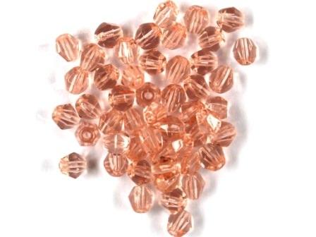 Bicone 4mm Kristall-altrosa